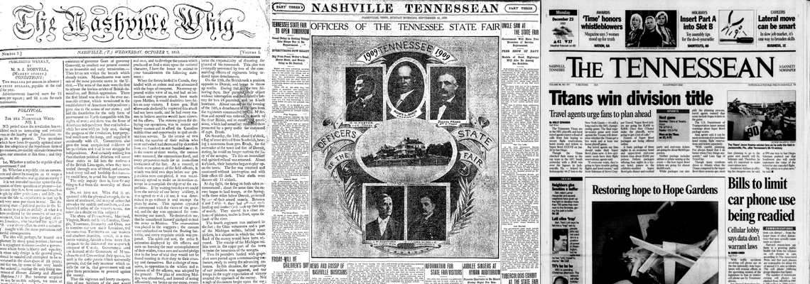 Tennessee State Library Gives Free Access to 190 Years of
