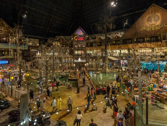 Interior of Bass Pro Shop from TSLA Decoration of the Memphis Pyramid. Source: basspro.com/pyramid