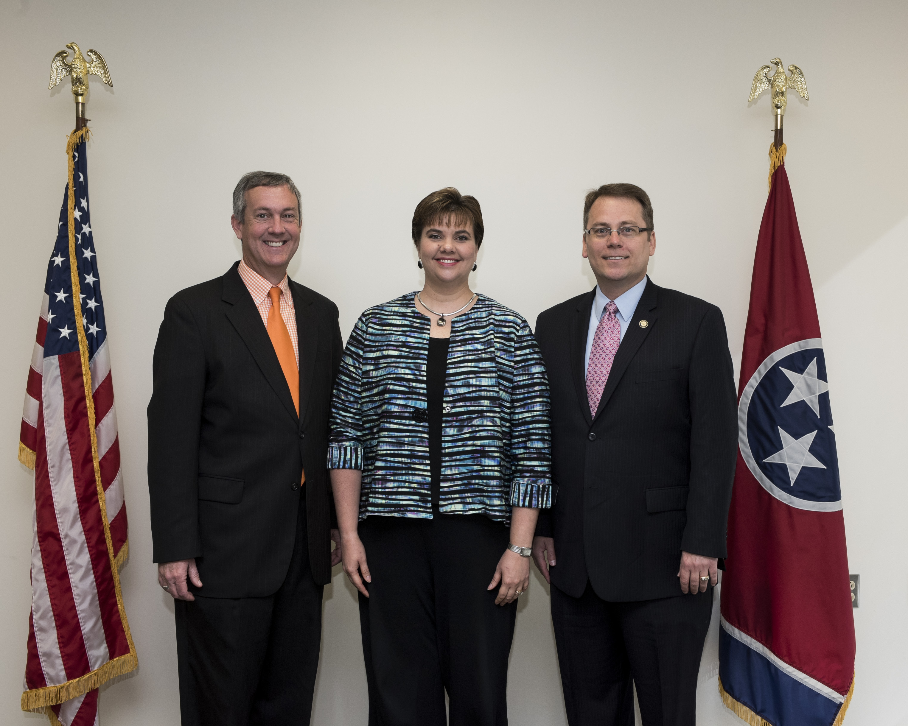 L to R: Secretary Hargett, Montgomery County Administrator of Elections Elizabeth Black and Coordinator of Elections Mark Goins May 2, 2017.