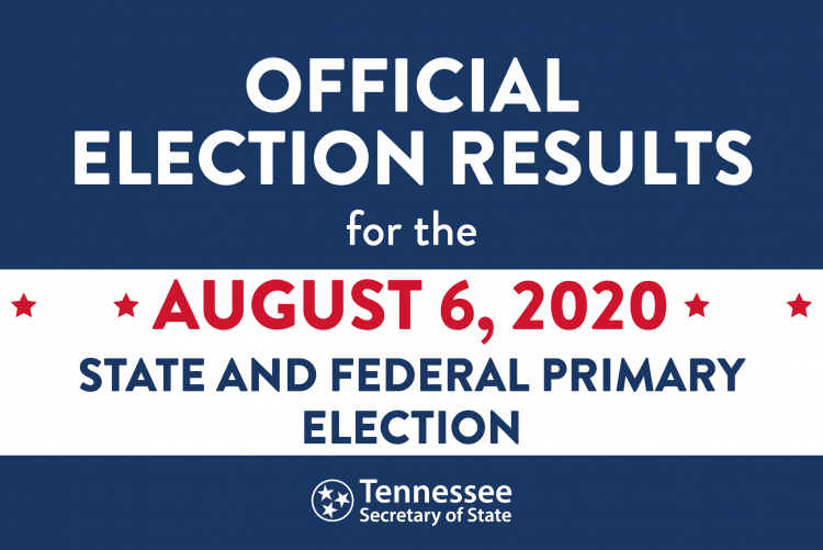 Official Results for August 6 Election