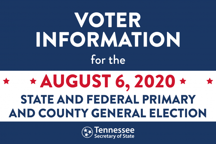 Voter Information for August 6, 2020