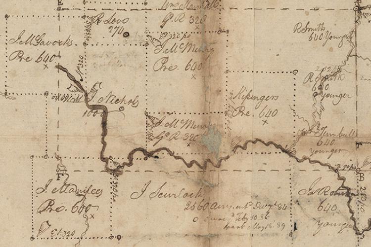 Land platting map