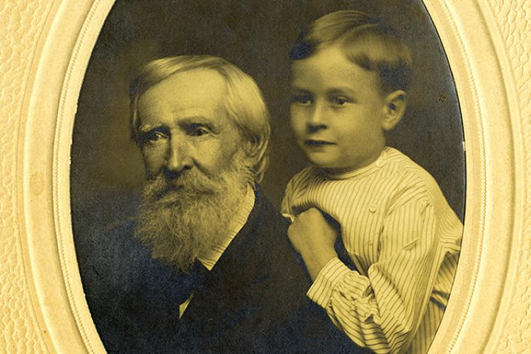 Robert H. Cartmell and his grandson