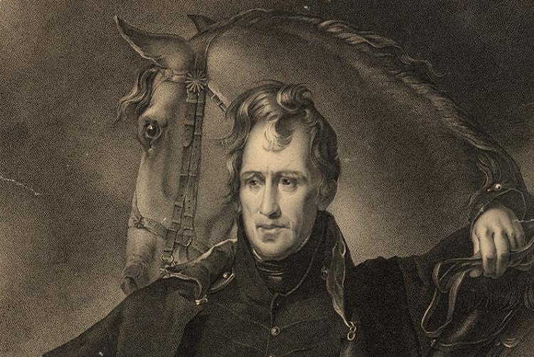 Engraving of Major General Andrew Jackson by James B. Longacre