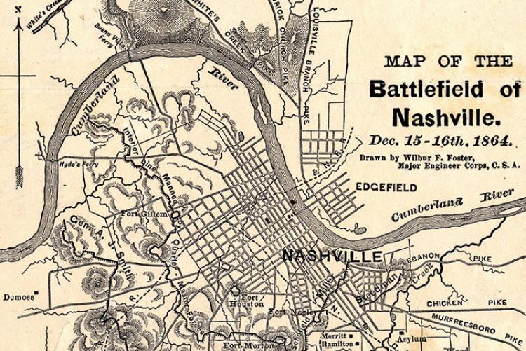 Map Of The Battlefield Nashville