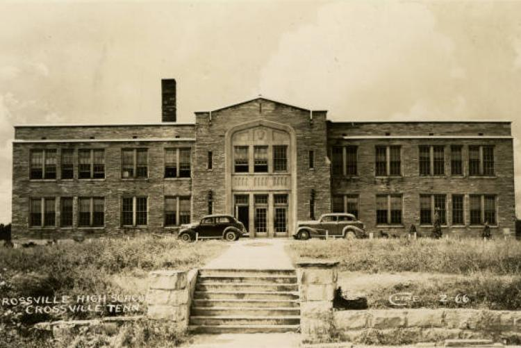 picture of Crossville High School from 1944