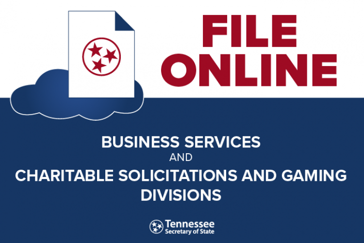 File Online for Business Services and Charitable Solicitations and Gaming