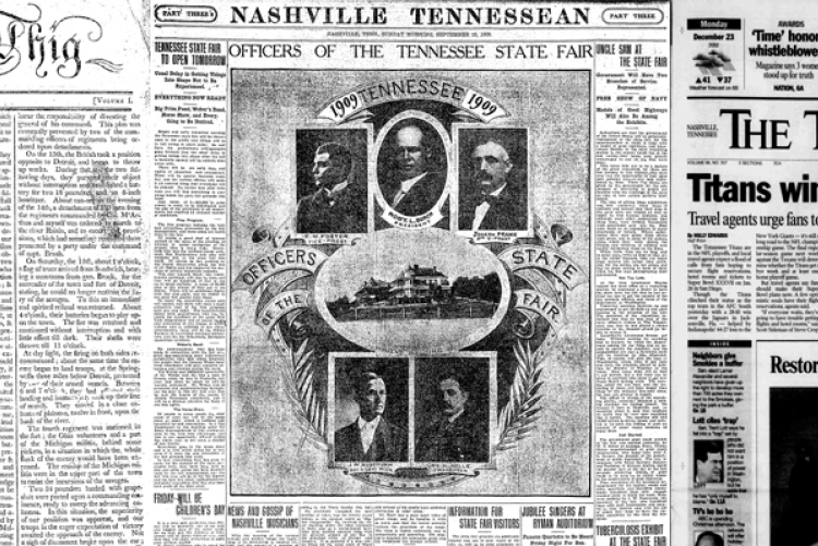 Tennessee State Library Gives Free Access to 190 Years of The Tennessean