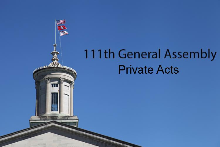 111th General Assembly Private Acts