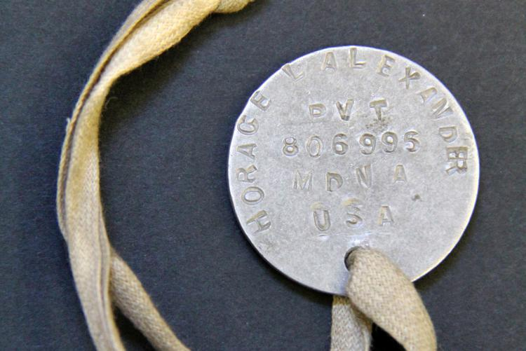 image of World War I Army identification tag