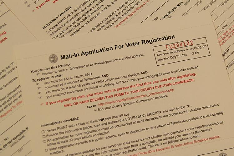 Tennessee voter registration forms