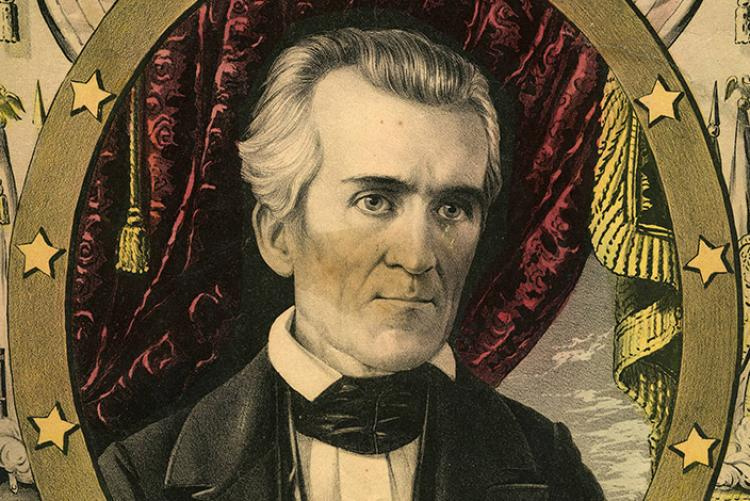 Lithograph of James K. Polk, eleventh president of the United States