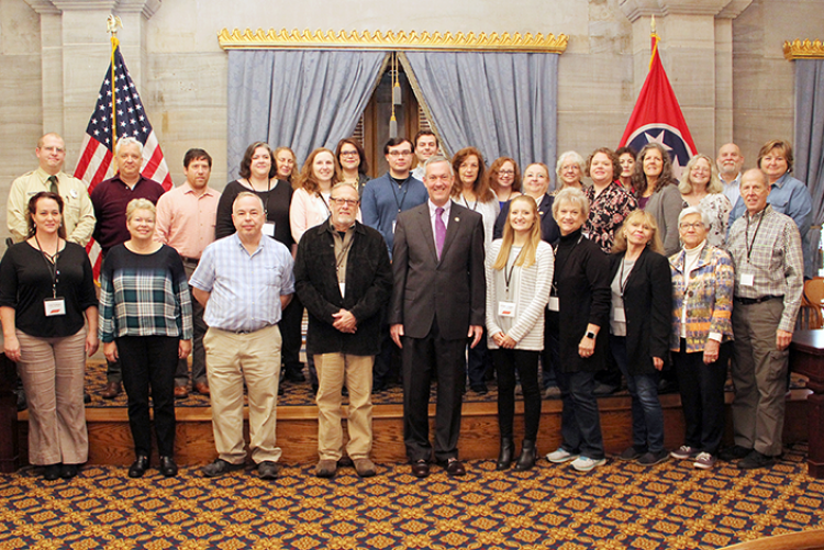 Secretary of State Tre Hargett with the 2019 Tennessee Archives Institute Participants