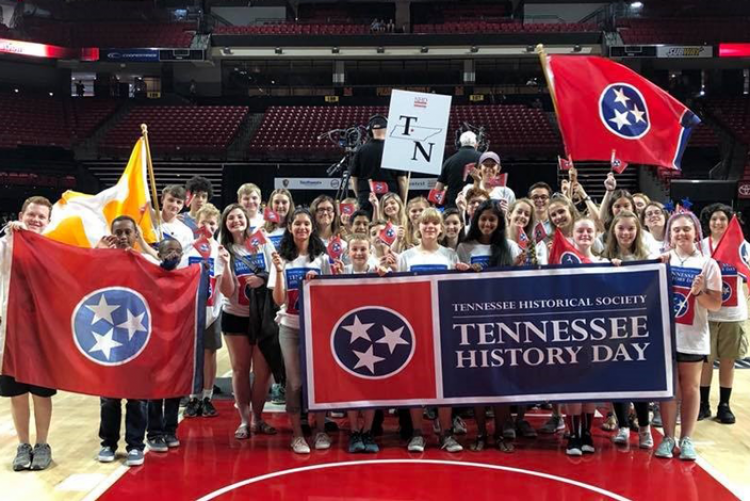 Group of students representing Tennessee at National History Day 2018
