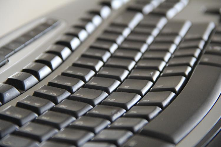 image of a black computer keyboard