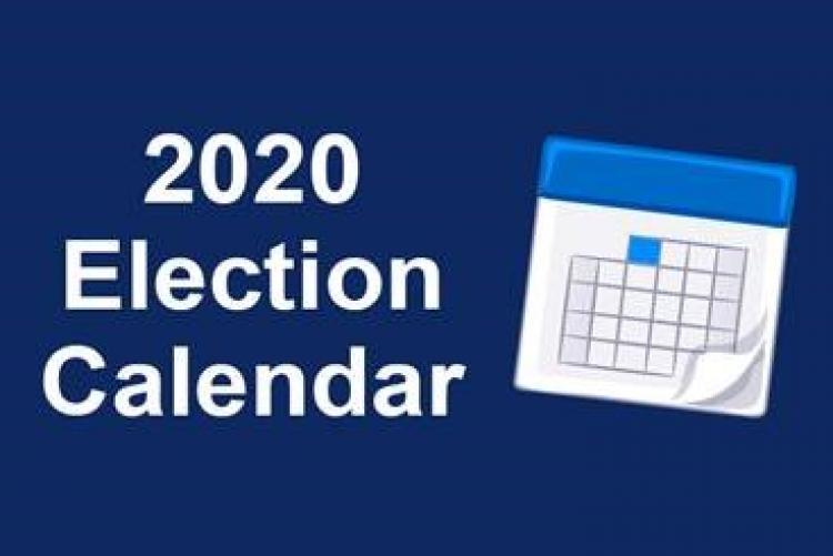 2020 Election Calendar