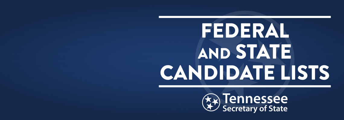 Federal and State Candidate Lists